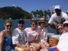 People in Marigot Bay with Captain Tom