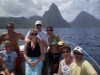 People on board in front of Soufriere
